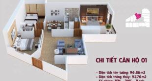 chi tiết căn hộ tòa tháp chung cư
