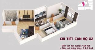Chi tiết căn hộ 02 tòa Tháp Chung Cư