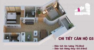Chi tiết căn hộ 03 tòa Tháp Chung Cư