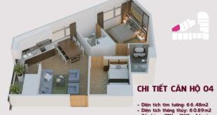 Chi tiết căn hộ 04 tòa Tháp Chung Cư