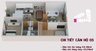 Chi tiết căn hộ 05 tòa Tháp Chung Cư