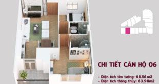 Chi tiết căn hộ 06 tòa Tháp Chung Cư