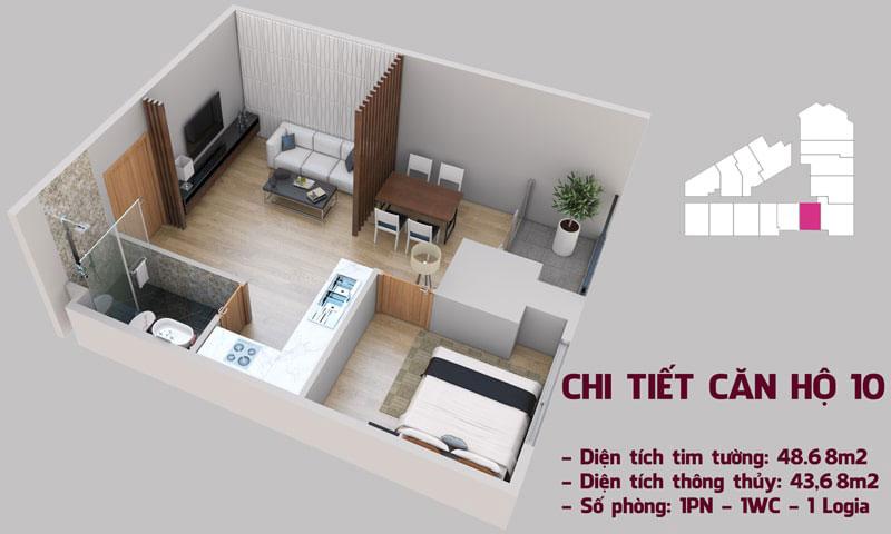 Chi tiết căn hộ 10 tòa Tháp Chung Cư